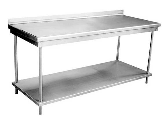 Mesas de trabajo en stainless steel master chef for Mesa trabajo cocina